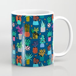 Check It - house plants indoor monstera neon bright modern pattern retro throwback memphis style Coffee Mug