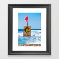 High Surf Framed Art Print