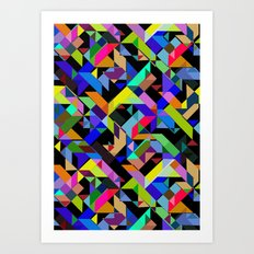 Aztec Geometric III Art Print
