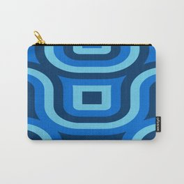 Blue Truchet Pattern Carry-All Pouch