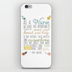 As a Nurse... iPhone & iPod Skin