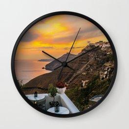 Gorgeous Santorini b Wall Clock