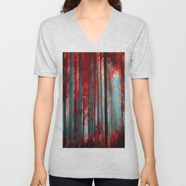 Magical trees Unisex V-Neck
