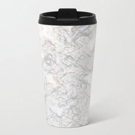 Paper Marble Metal Travel Mug