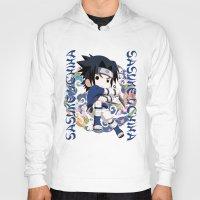 sasuke Hoodies featuring Chibi Sasuke Uchiha by Neo Crystal Tokyo