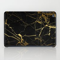 black and gold iPad Cases featuring Black & Gold by Coconuts & Shrimps
