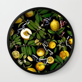 LEMON TREE Black Wall Clock