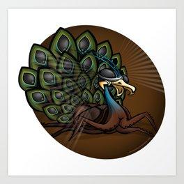Mutant Zoo - Peacockroach Art Print