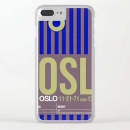 OSL Oslo Luggage Tag 2 Clear iPhone Case