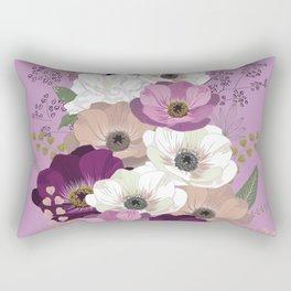 Anemones & Gardenia violet bouquet Rectangular Pillow