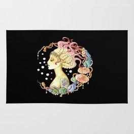 octopus mermaid Rug
