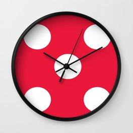 Dice 5 Wall Clock