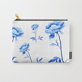 one blue peony painting Carry-All Pouch