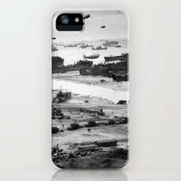 Omaha Beach Resupply - Normandy Invasion - 1944 iPhone Case