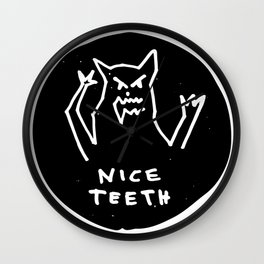 Nice teeth Wall Clock