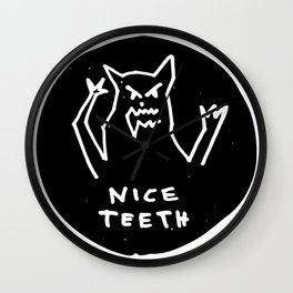 Nice teeth Wall Clock