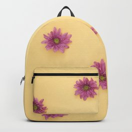 Flowers on Yellow Backpack