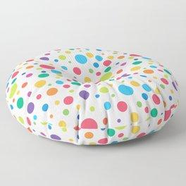 Rainbow Polka Dots Floor Pillow