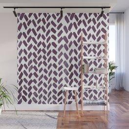 Cute watercolor knitting pattern - purple gray Wall Mural