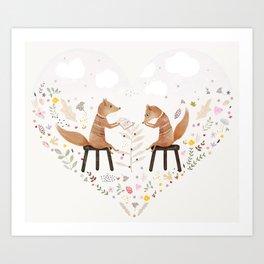 fox philosophers Art Print