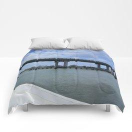 Tybee Island Bridge Comforters
