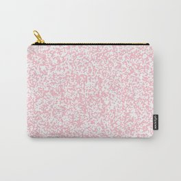 Tiny Spots - White and Pink Carry-All Pouch
