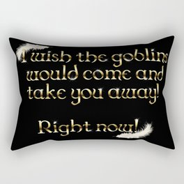 Goblins Take You Away (Black) Rectangular Pillow