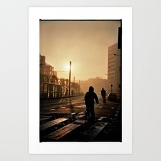 Foggy City Art Print