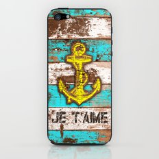 Anchor Marine (Je t'aime) iPhone & iPod Skin
