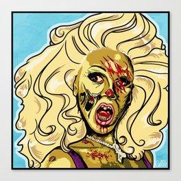 Zombie RuPaul Canvas Print