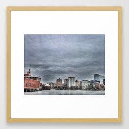A Frozen Charles River Framed Art Print