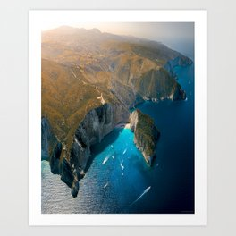Zankynthos island, Greece Art Print