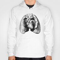 lungs Hoodies featuring Lungs by Sadiie