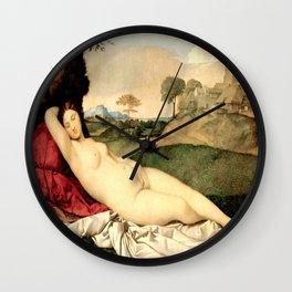 NUDE ART: Sleeping Venus by Giorgione Wall Clock