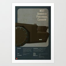 M577 Armored Personnel Carrier Tritych III/III Aliens APC Art Print