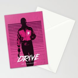 Drive art movie inspired Stationery Cards