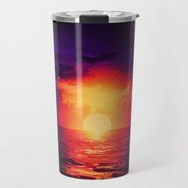 Fire purple cloud by #Bizzartino Travel Mug