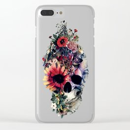 Two Face Skull Clear iPhone Case