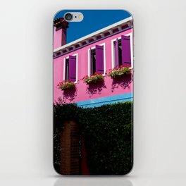Pink, Burano Italy iPhone Skin