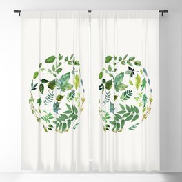 Circle of Leaves Blackout Curtain