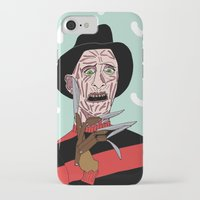 freddy krueger iPhone & iPod Cases featuring Freddy Krueger by Elena Éper