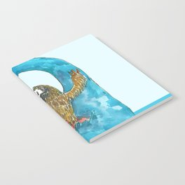 surfing sloth in the spring Notebook