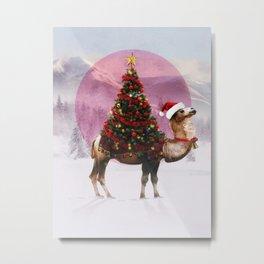 Santa Camel Metal Print