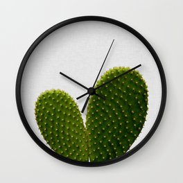 Heart Cactus Wall Clock
