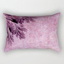 Frost in pink Rectangular Pillow