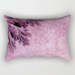 Frost in pink Rectangular Pillow
