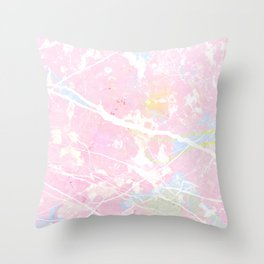 Pastel Candy Pollock marble Throw Pillow