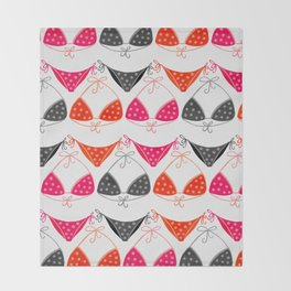 Bikini Collection #1 Throw Blanket
