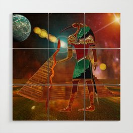Ancient Secrets THOTH 3D Scifi Egyptian Wood Wall Art