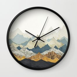 Distant Peaks Wall Clock